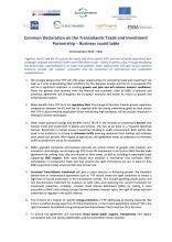 37_Final Common Declaration on TTIP 16.12.14 - Business     organizations